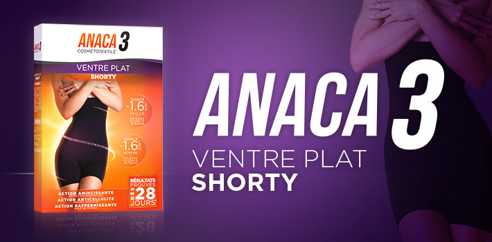 Shorty ventre plat : la nouvelle solution Anaca 3 anti cellulite et raffermissante